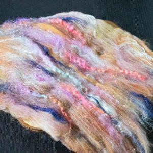 hand carded fiber